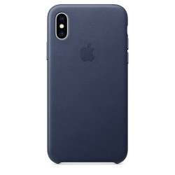 iPhone XS Max Leather Case - Midnight Blue MRWU2ZM/A