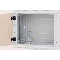 Nástěnný rack jednodílný 12U (š)600x(h)595 perforované dveře...