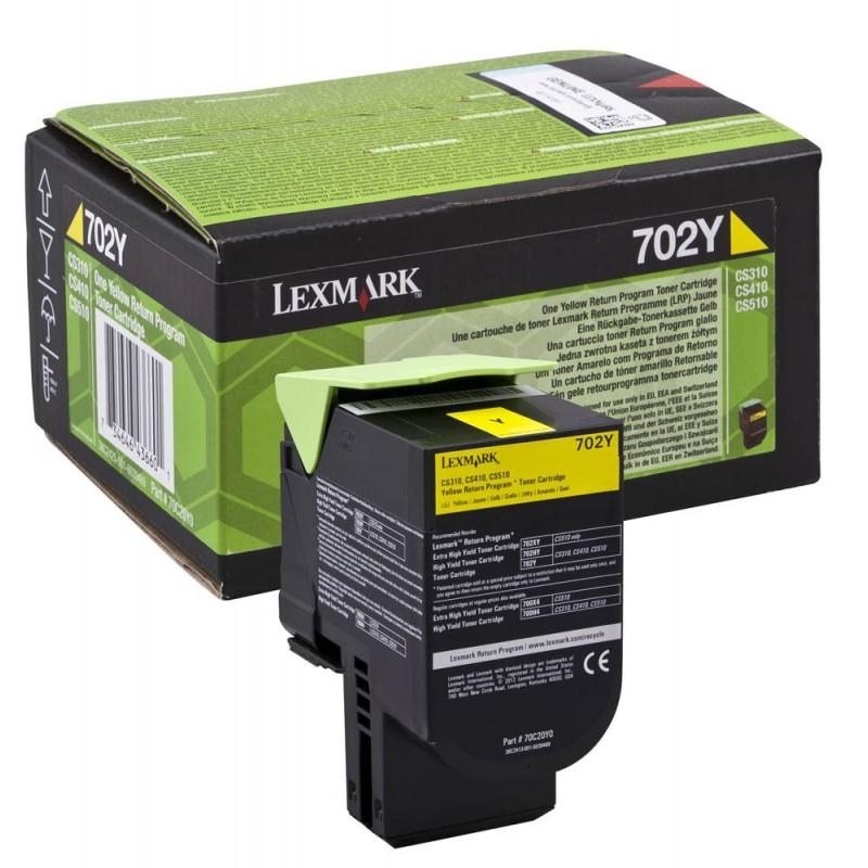 Lexmark originál toner 70C20Y0, yellow, 1000str., return, Lexmark CS510de, CS410dn, CS310dn, CS310n, CS410n
