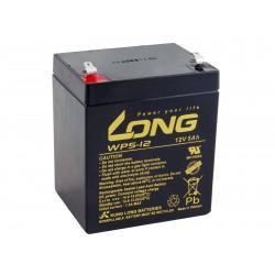 Long 12V 5Ah olověný akumulátor F1 (WP5-12 F1) PBLO-12V005-F1A-1