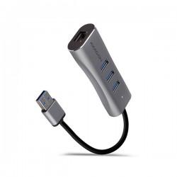 AXAGON HMA-GL3AP, USB 3.2 Gen 1 hub, porty 3x USB-A + Gigabit...