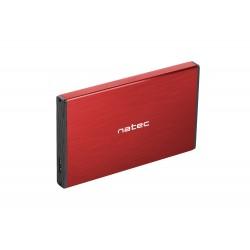 """Externí box pro HDD 2,5"""" USB 3.0 Natec Rhino Go, červený, hliníkové..."""