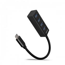 AXAGON HUE-M1C, 4x USB 3.2 Gen 1 MINI hub, kovový, kabel USB-C 20cm