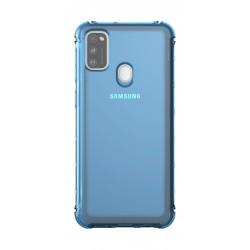 Samsung Poloprůhledný kryt pro Galaxy M21 Modrý GP-FPM215KDALW