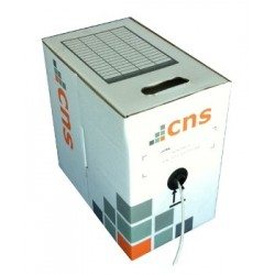 CNS kabel UTP, Cat5E, drát, PVC, Eca, box 305m - šedá KLEXI65504A