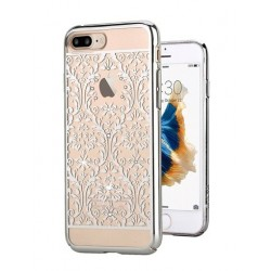 Devia kryt Crystal Baroque pre iPhone 7 Plus - Silver 6952897994075