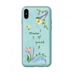 Devia kryt Flower Embroidery Case pre iPhone X/XS - Lanzh...
