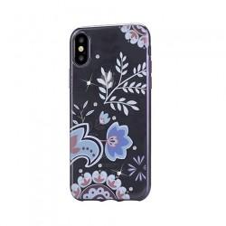 Devia kryt Crystal Bloosom Case pre iPhone X/XS - Black 6938595305603