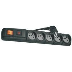 Emos přepěťová ochrana F5 - 5 zásuvek, 3m, černá 1909050154