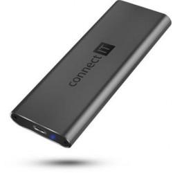 CONNECT IT AluSafe externí box pro SSD disky M.2 NVMe, 10 Gbps,...