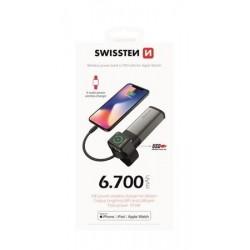 SWISSTEN 2in1 APPLE WATCH MFi POWER BANK 6700 mAh 22013980