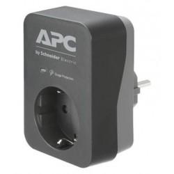 APC Essential SurgeArrest, 1 Ausgang, schwarz, 230 V, Deutschland...