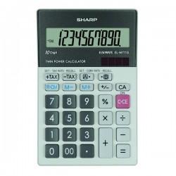 Sharp Kalkulačka EL-M711GGY, šedá, stolová, desaťmiestna ELM711GGY