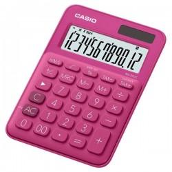 Casio Kalkulačka MS 20 UC RD, tmavo ružová, dvanásťmiestna, duálne...