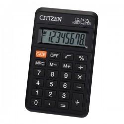 Citizen Kalkulačka LC310NR, čierna, vrecková, osemmiestna