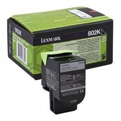 Lexmark originál toner 80C20KE, black, 1000str., return, Lexmark...