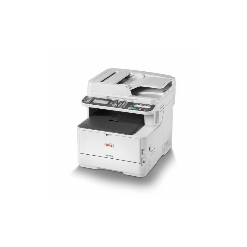 OKI MC363dn farebna MFP A4 far 26str/min cier 30str/min, USB, NET, COPY, SCAN, DUPLEX, FAX 46403502