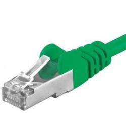 Premiumcord Patch kabel CAT6a S-FTP, RJ45-RJ45, AWG 26/7 7m, zelená...