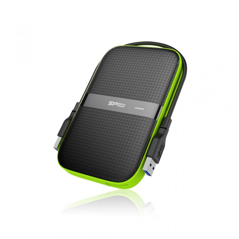 """Silicon Power ARMOR A60 2,5"""" externý HDD 1TB USB 3.0 čierny (odolný voči vode a nárazom) SP010TBPHDA60S3K"""