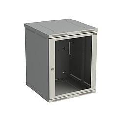 Rack nástěnný Sensa 15U 600mm,dv.sklo, šedý SENSA-15U-66-11-G