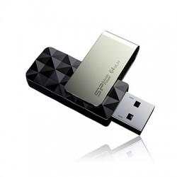 32 GB USB 3.0 kľúč Silicon Power BLAZE B30, čierny (1 strana prázdna, vhodné na potlač) SP032GBUF3B30V1K