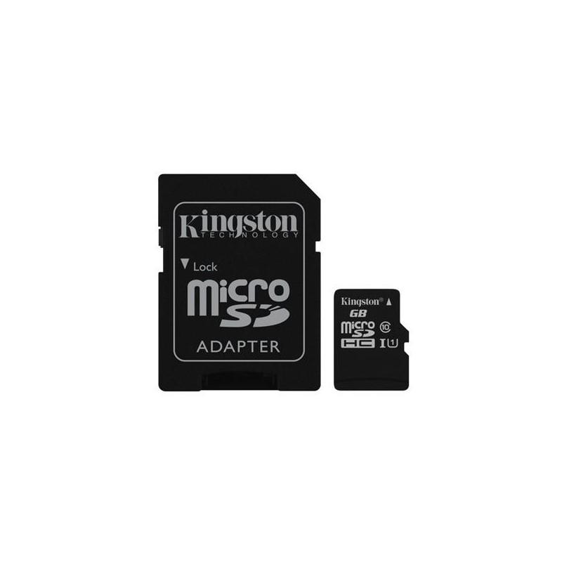 256 GB microSDHC/SDXC karta Kingston Class 10 UHS-I + adaptér (r45MB/s, w10MB/s ) SDC10G2/256GB
