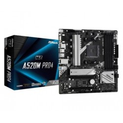Asrock A520M PRO4, AMD AM4, 4xDDR4, HDMI, DP, M.2, Micro ATX