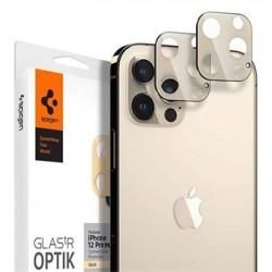 Spigen Optik Lens Protector pre iPhone 12 Pro Max - Gold AGL02454