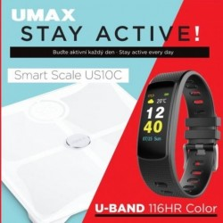 UMAX Stay Active! Smart Scale US10C + U-Band 116HR UB604