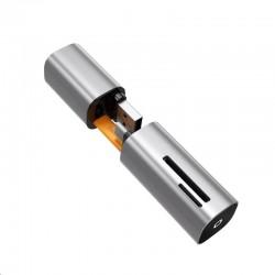 Baseus kompaktní mini čtečka paměťových karet 2v1 USB-C/USB Šedá...