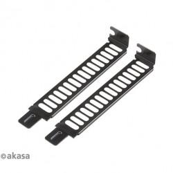 AKASA kryt na PCI Slot (2 pack) ocelový, s 2 šrouby AK-MX302