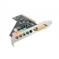 4World 6 kanálová interna zvukova karta pre stolove pocitace, PCI 05365