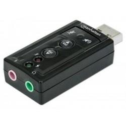 Manhattan Sound card Hi-Speed USB virtual 3D 7.1 with volume control 151429