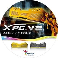ADATA OC XPG v2 Gaming 2x4GB 2400MHz DDR3 CL11 Radiator, wolframově šedý chladič AX3U2400W4G11-DMV