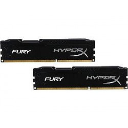 HyperX Fury Black Series 8GB(Kit of 2) 2666MHz DDR4 Non-ECC CL15 DIMM HX426C15FBK2/8