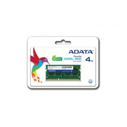 ADATA 4GB 1600MHz DDR3L CL11 SODIMM, 1.35V Single Tray ADDS1600W4G11-S