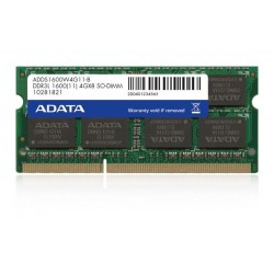 ADATA 4GB 1600MHz DDR3L CL11 SODIMM 1.35V Retail ADDS1600W4G11-R