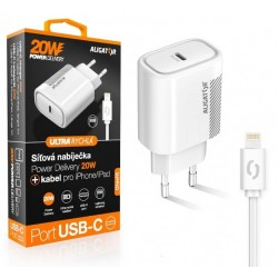 Aligator POWER DELIVERY 20W, USB-C, bílá, USB-C kabel pro...