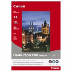 Canon Photo Paper Plus Semi-Glossy, biely, A4, 260 g/m2, 20 ks 1686B021