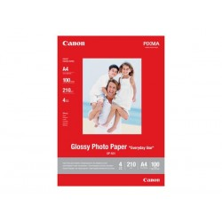 Canon Photo paper Glossy, foto papier, lesklý, biely, A4, 210 g/m2, 100 ks, GP-501 0775B001
