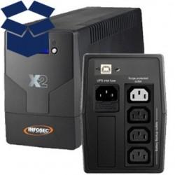 INFOSEC X2 LCD USB 1000VA 66038 (VYP) 66038_vypredaj