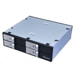 "AKASA HDD box Lokstor M22, 4x 2.5"" SATA HDD/SSD do 5.25"" interní..."