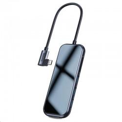 Baseus multifunkční HUB USB-C (3* USB 3.0, 4KHDMI, USB-C PD), šedá...