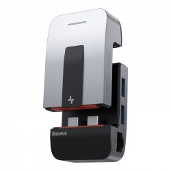 Baseus Armor Age multifunkční USB-C HUB adaptér vesmírně, šedá...