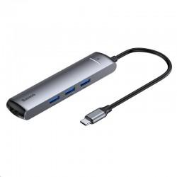 Baseus Mechanical Eye chytrý HUB 6v1 USB-C (USB-C, 3* USB 3.0,...