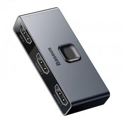 Baseus Matrix HDMI Splitter 2v1 / 1v2 šedá CAHUB-BC0G