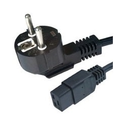 Kábel sieťový 230V Gembird čierny C19 2m PC-186-C19