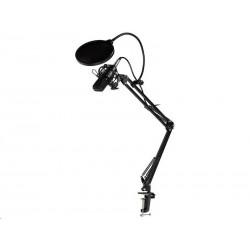 TRACER mikrofon Studio PRO, 3.5 jack, 2.5 m kabel, černá TRAMIC46163