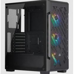 CORSAIR case iCUE 220T RGB Airflow, Mid-Tower, RGB, průhledná...
