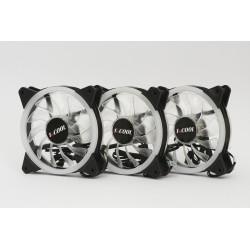1stCOOL Fan KIT REGULAR EVO, RGB 3x Dual Ring 12cm ventilátor...